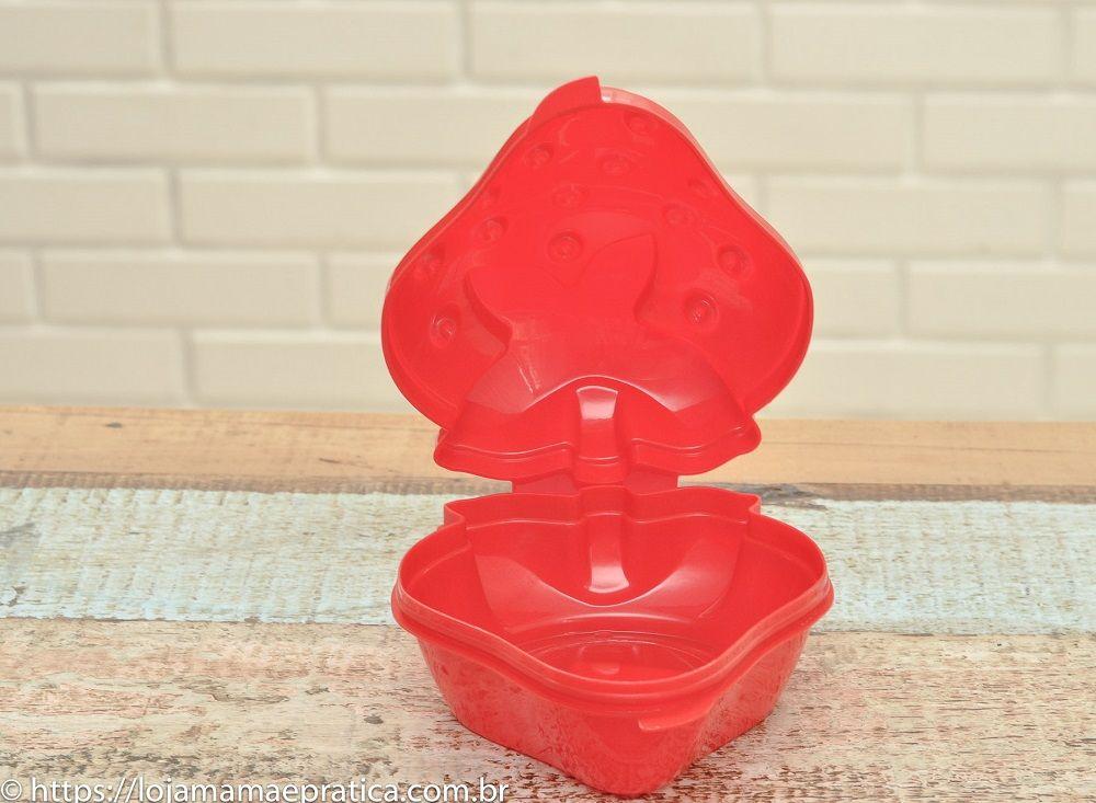 Porta-fruta no formato de morango