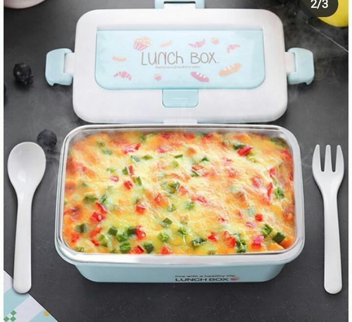 Pote Marmita Lunch Box - Azul