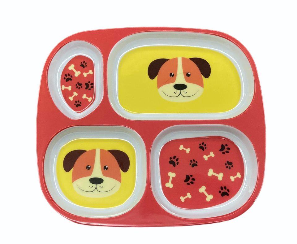Prato cachorro cachorro c/ 4 divisórias
