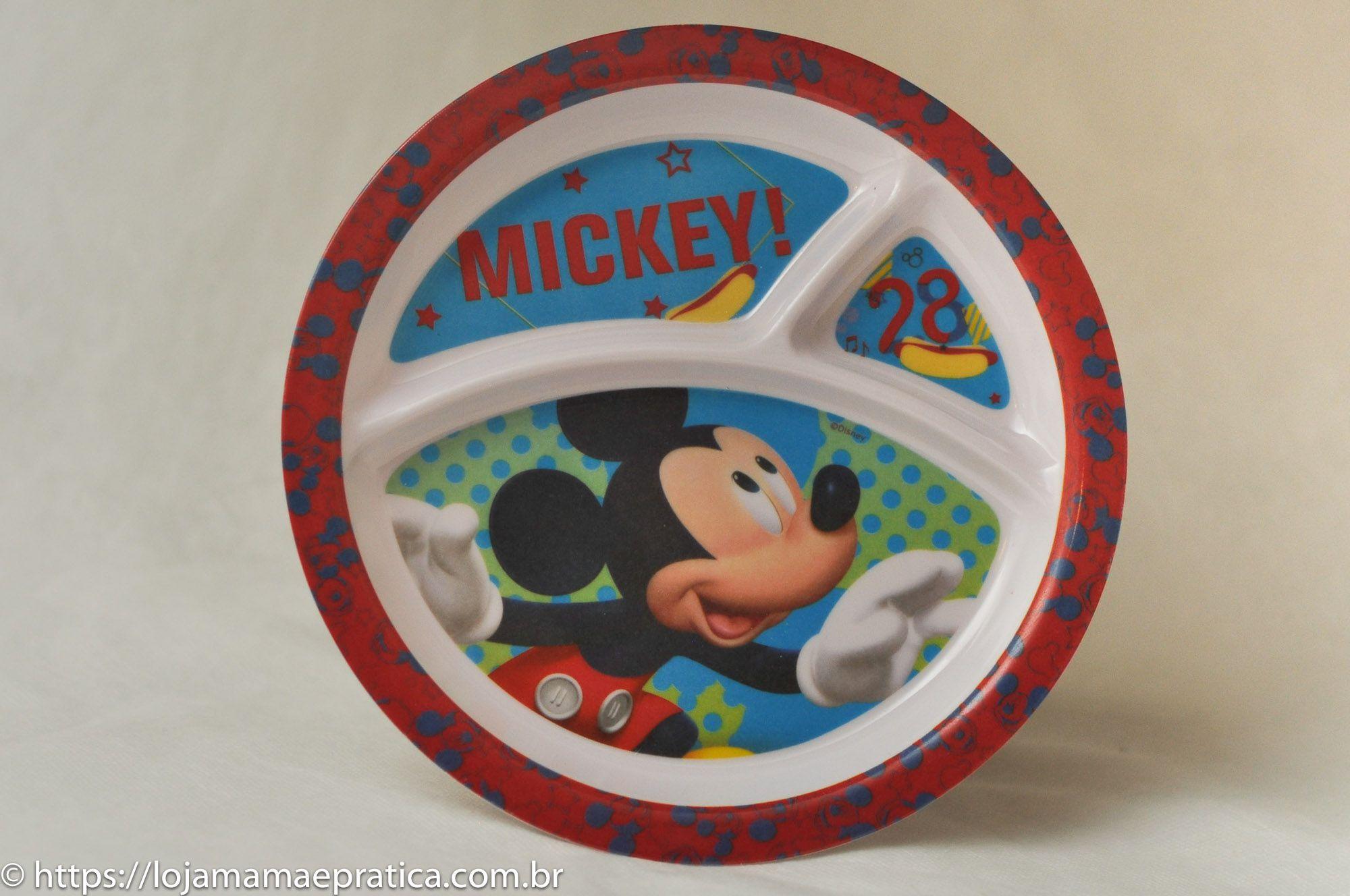Prato c/ divisórias - Mickey Mouse