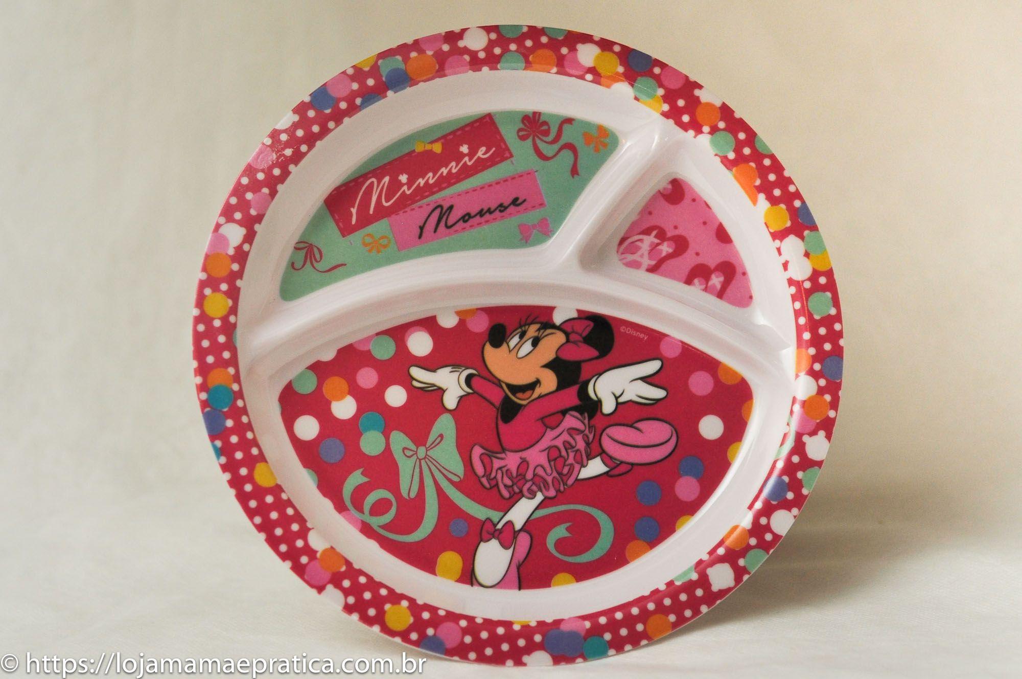 Prato infantil com divisória - Minnie