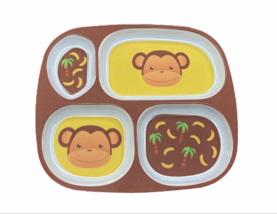 Prato Macaco c/ 4 divisórias
