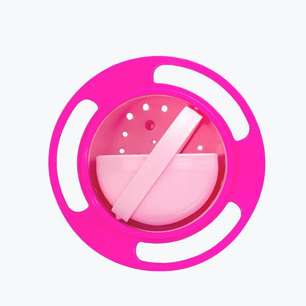 Prato Giratório Rosa - Comida não cai!