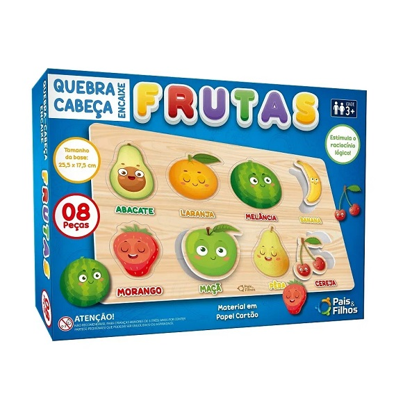 Quebra-cabeça Encaixe Frutas