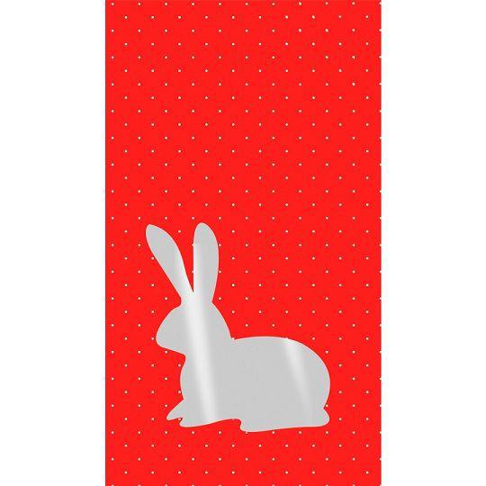 Saquinho plástico coelho - vermelho (50 un)
