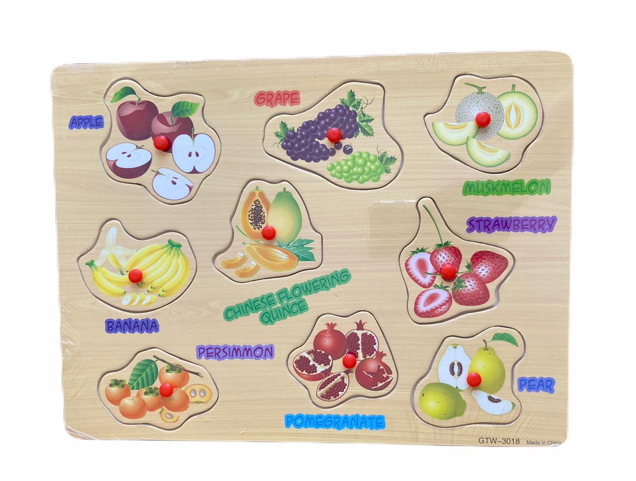 Tabuleiro Educativo Frutas