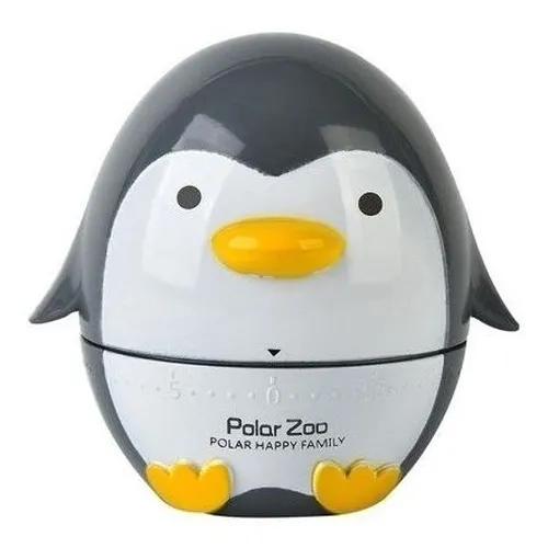 Timer de Cozinha Pinguim - Cinza