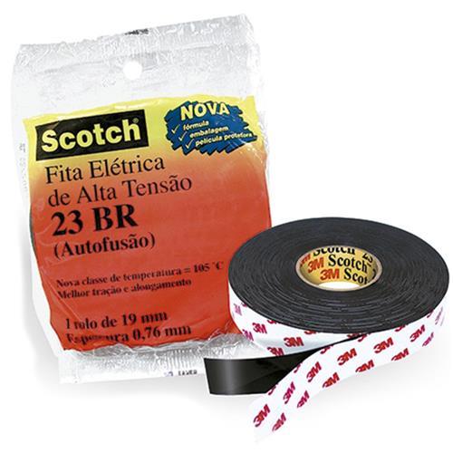 Fita Isolante Autofusão  Scotch 23 Br 2 Metros Preto 23Br 3M