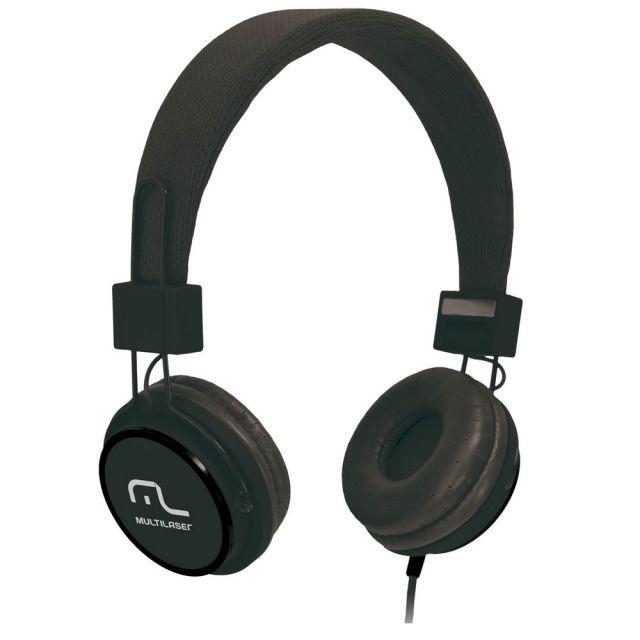 Fone de Ouvido Multilaser Headphone Fun Preto P2 - PH115 50