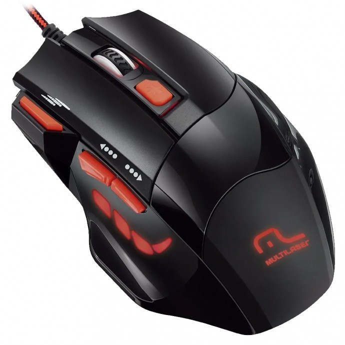 Mouse Gamer Multilaser Fire Button 2400 DPI MO236