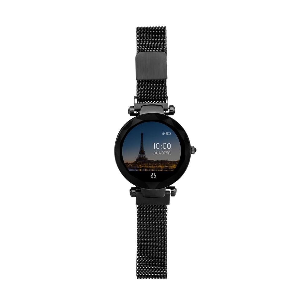 Relógio Smartwatch Paris Atrio Android/ios Preto