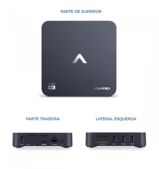 Smart TV Box 4K Aquário