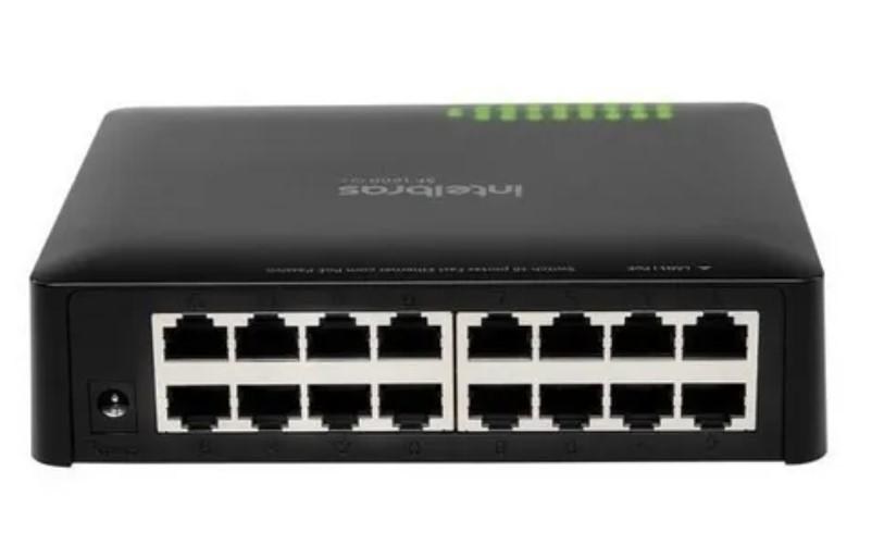 Switch Intelbras 16 Portas Fast Ethernet Sf 1600 Q+