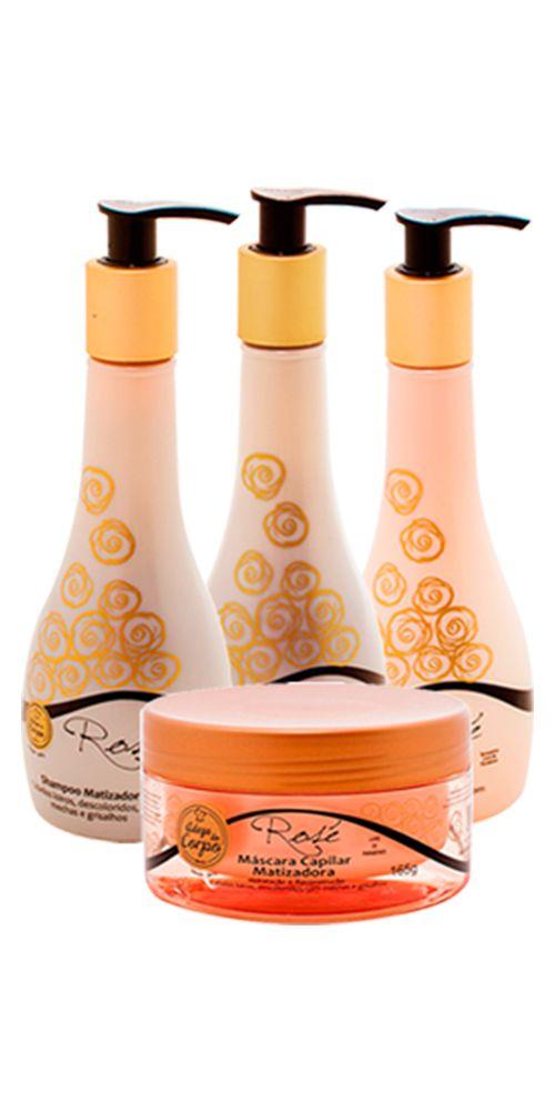 Kit Matizador Tratamento Completo e Resultado Mais Rápido 4Platinum Shampoo Condicionador e Leave-in (250ml cada) Máscara 165g - Adega do Corpo