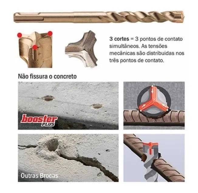 Broca SDS Âncora Booster Plus - 10x210mm
