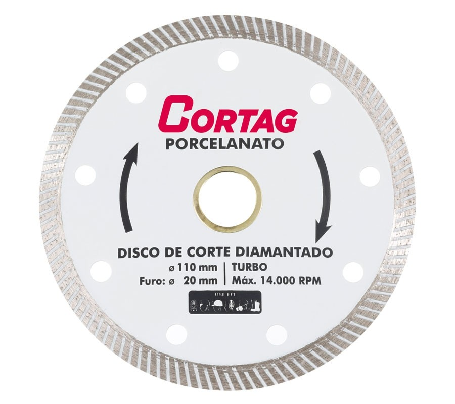 Discos de Corte Diamantado Turbo Porcelanato