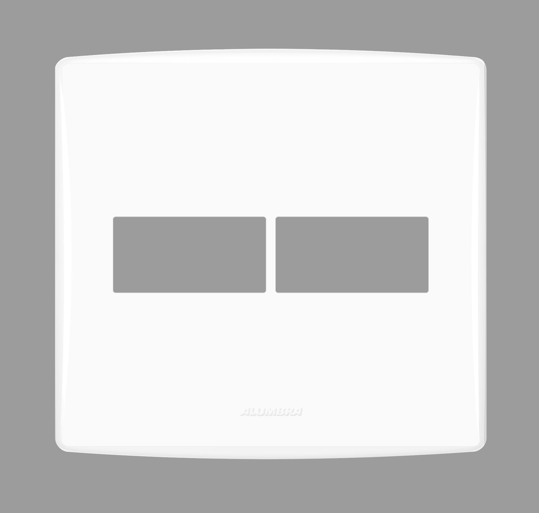 Placa com suporte 4x4 Bianco Pro - Alumbra