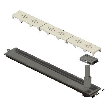 Ralo Linear Novii PVC 75cm