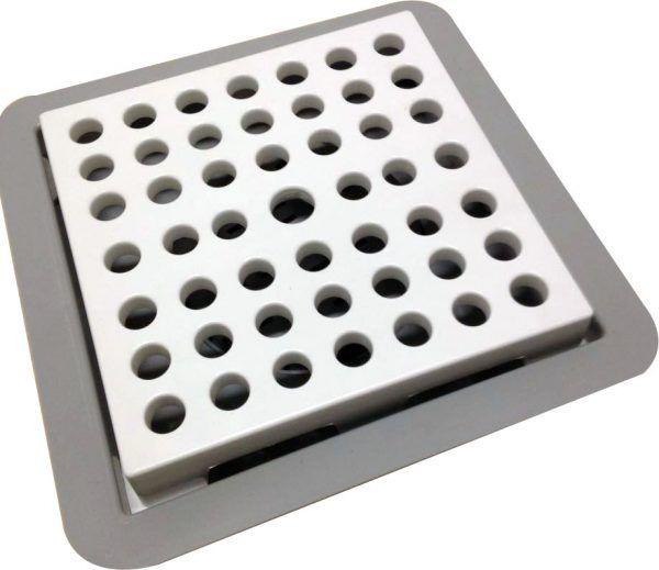 Ralo Linear Square Fit PVC Vazado 15 x 15cm (Linha Fun)