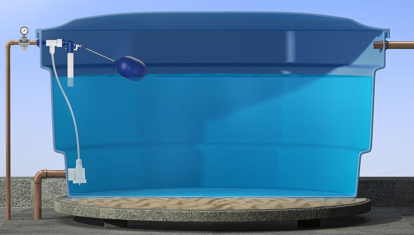 Válvula transferidora de pressão para caixas d'Água