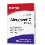 ANTIALÉRGICO COVELI ALERGOVET C 0,7MG C/10 COMP
