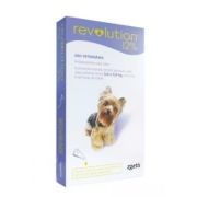 ANTIPULGAS ZOETIS REVOLUTION CÃO 2,6KG / 5KG - 30MG - 12% - 0,25ML C/1 UN