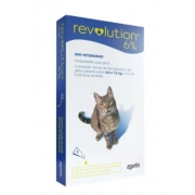 ANTIPULGAS ZOETIS REVOLUTION GATO 2,6KG / 7,5KG - 45MG - 6% 0,75ML C/1 UN