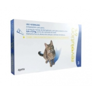 ANTIPULGAS ZOETIS REVOLUTION GATO 2,6KG / 7,5KG - 45MG - 6% - 0,75ML C/3 UN