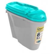 PLAST PET DISPENSER HOME 8L/3,5KG AZUL TIFANY