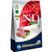 RAÇÃO N&D CÃO ADULTO QUINOA WEIGHT MANAGEMENT CORDEIRO ALL BREEDS 800G
