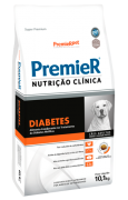 RAÇÃO PREMIER CÃO ADULTO NUTRIÇÃO CLÍNICA DIABETES  RAÇAS MÉDIAS E GRANDES 10,1KG
