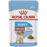 RAÇÃO ÚMDIA ROYAL CANIN CÃO PUPPY MEDIUM WET SACHÊ 140G