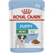 RAÇÃO ÚMDIA ROYAL CANIN CÃO PUPPY MINI INDOOR WET SACHÊ 85G