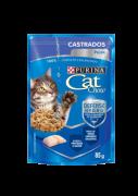 RAÇÃO ÚMIDA CAT CHOW ADULTO CASTRADO CARNE AO MOLHO 85G SACHÊ