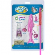 VARINHA DENTAL TRUQYS PET CAT ROSA