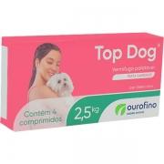 VERMÍFUGO TOP DOG OURO FINO 250MG C/4 COMP - 2,5KG