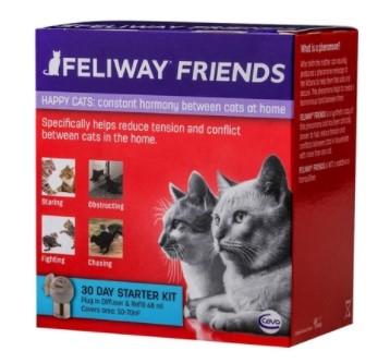 ANÁLOGO SINTÉTICO DO ODOR MATERNO FELINO CEVA FELIWAY FRIENDS C/ DIFUSOR + REFIL 48ML