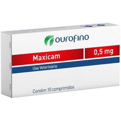 ANTI-INFLAMATÓRIO OURO FINO MAXICAM 0,5MG C/10 COMP