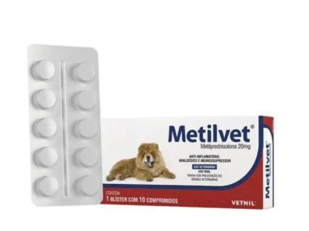 ANTI-INFLAMATÓRIO VETNIL METILVET 20MG C/10 COMP