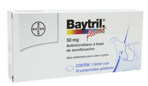 ANTIBIÓTICO BAYER BAYTRIL 50MG COM 10 COMP