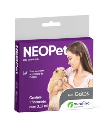 ANTIPULGAS OURO FINO NEOPET GATO 0,32ML  - COMPRE 1 LEVE 2