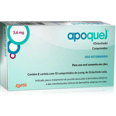 DERMATOLÓGICO ZOETIS APOQUEL 3,6MG C/ 20 COMP