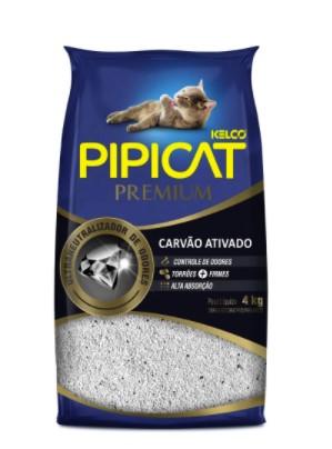 PIPICAT AREIA PREMIUM CARVÃO ATIVADO 4KG