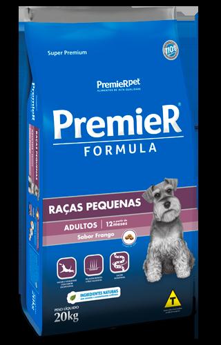 RAÇÃO PREMIER CÃO ADULTO RAÇAS PEQUENAS FORMULA FRANGO 20KG
