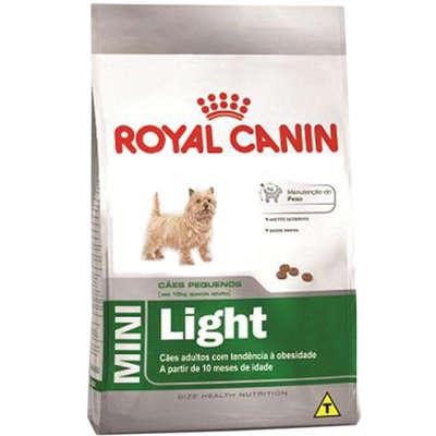 RAÇÃO ROYAL CANIN CÃO ADULTO MINI LIGHT 7,5KG