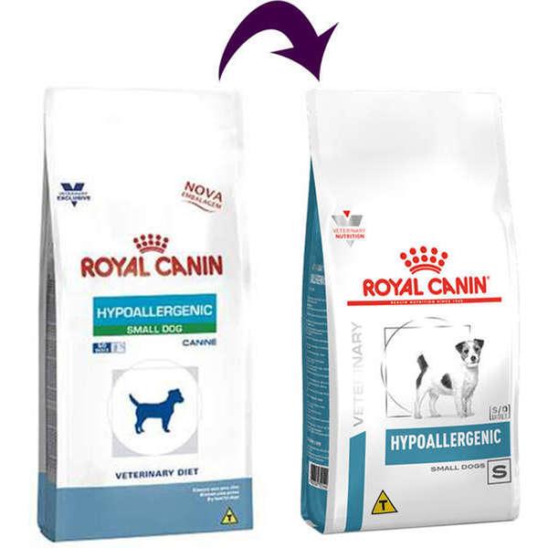 RAÇÃO ROYAL CANIN CÃO ADULTO VETERINARY DIET HYPOALLERGENIC SMALL DOG 7,5KG