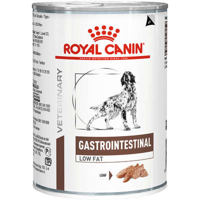 RAÇÃO ÚMIDA ROYAL CANIN CÃO ADULTO VETERINÁRIA GASTRO INTESTINAL LOW FAT WET LATA 410G