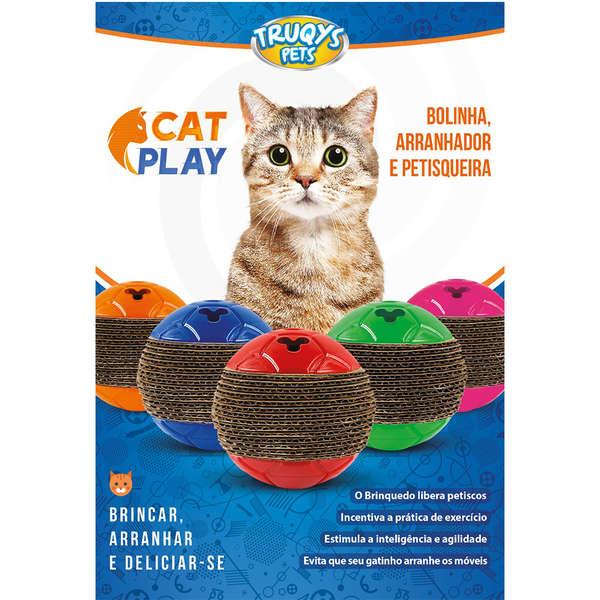 TRUQYS PET BOLINHA CAT PLAY ROSA