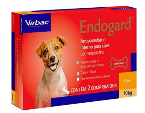 VERMÍFUGO VIRBAC ENDOGARD CÃO 10KG C/ 2 COMP