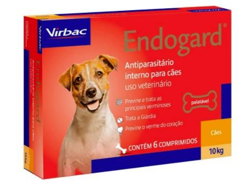 VERMÍFUGO VIRBAC ENDOGARD CÃO 10KG C/ 6 COMP